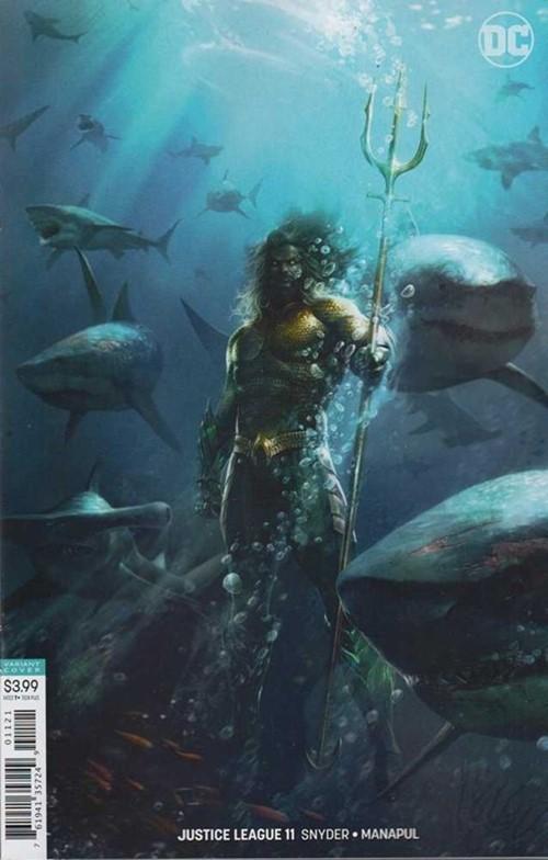 (DC) Cover for Justice League #11 Francesco Mattina Aquaman Movie Variant Cover