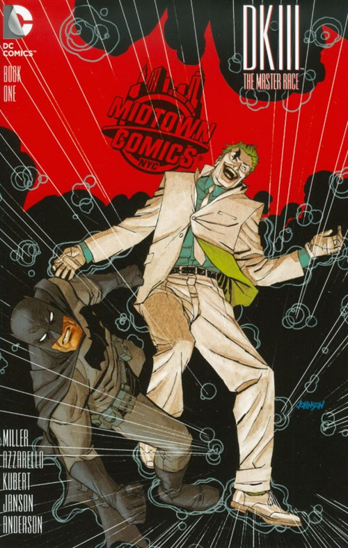 (DC) Cover for Dark Knight Iii: The Master Race #1 Midtown Comics Shared Retailer Exclusive Dave Johnson Variant Cover