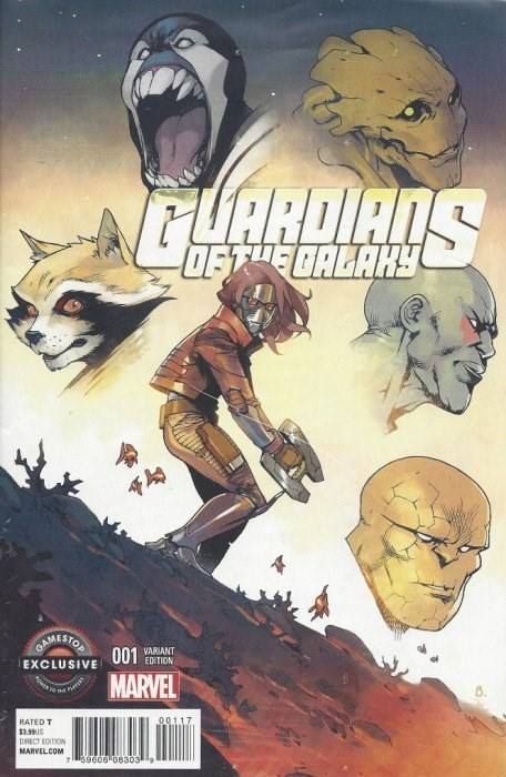 (Marvel) Cover for Guardians Of The Galaxy #1 Gamestop Exclusive Variant Cover