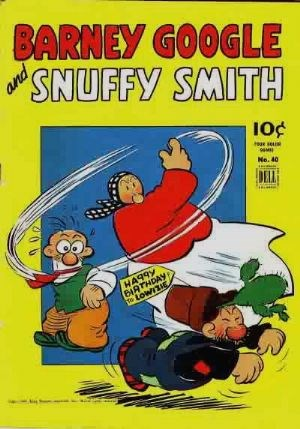 Comic Cover for Barney Google And Snuffy Smith (Four-Color) (#40)
