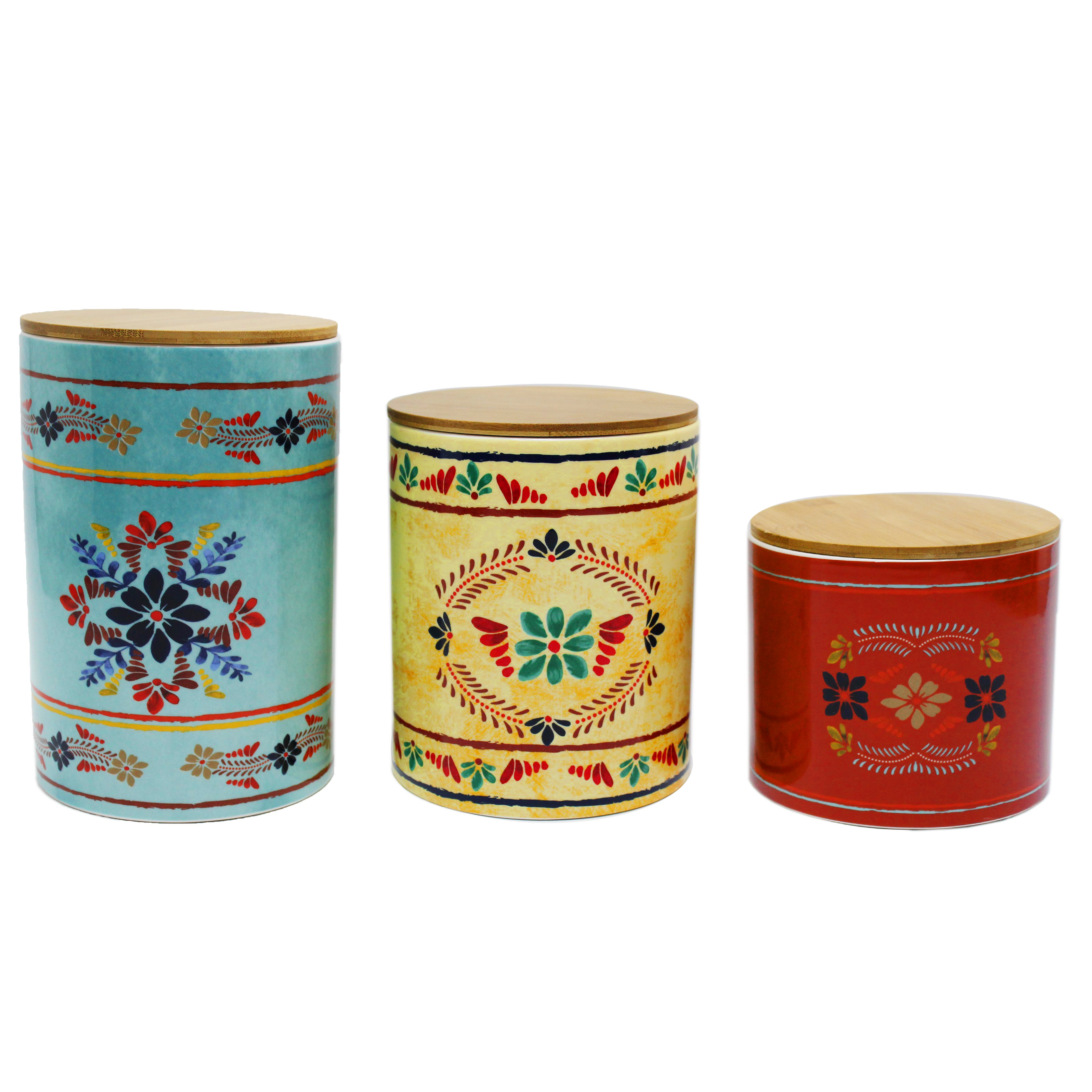 CS1937 - 3 Piece Canister Set- Bonita by HiEnd Accents