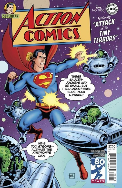 (DC) Cover for Action Comics #1000 Dave Gibbons 1950s Variant Cover