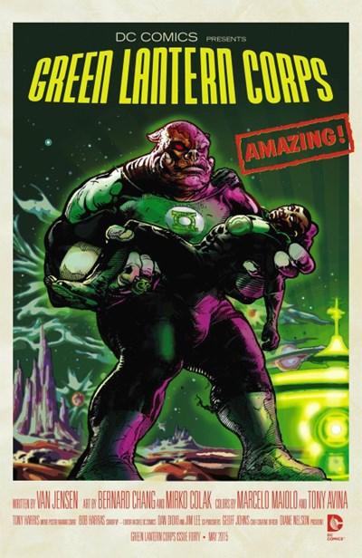 (DC) Cover for Green Lantern Corps #40 Tony Harris Movie Poster Variant Cover - Forbidden Planet