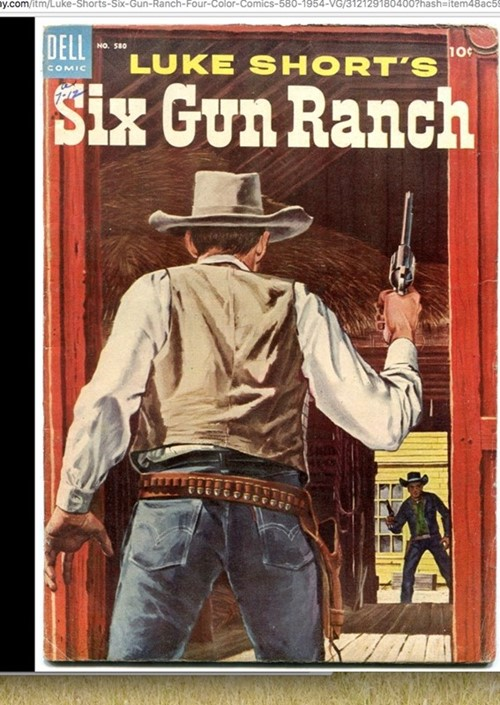 (Dell) Cover for Six Gun Ranch (Four Color) #580