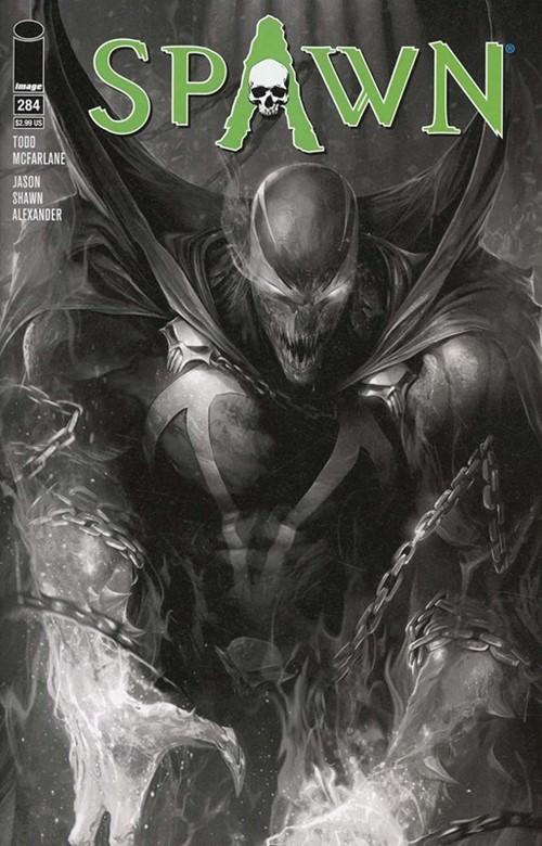 (Image) Cover for Spawn #284 Francesco Mattina Sketch Variant Cover