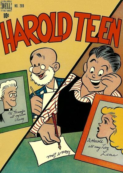 Comic Cover for Harold Teen (Four-Color) (#209)