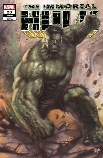 (Marvel) Cover for Immortal Hulk #20 Unknown Comics Exclusive Lucio Parrillo Variant Cover
