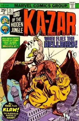 Comic Cover for Ka-Zar (#15)