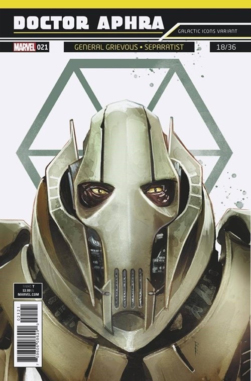 (Marvel) Cover for Doctor Aphra #21 Rod Reis Galactic Icon Variant Cover