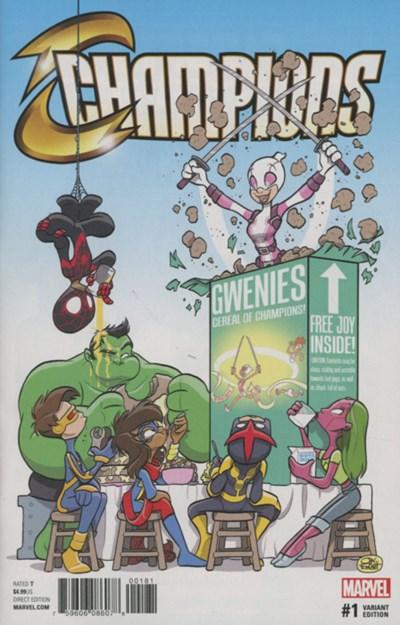 (Marvel) Cover for Champions #1 Jay Fosgitt Party Variant Cover