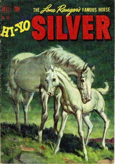 (Dell) Cover for Lone Rangers Famous Horse Hi-Yo Silver (Four Color) #369 Four-Color Numbering.  Origin as told by the Lone Ranger.