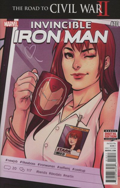 (Marvel) Cover for Invincible Iron Man #10