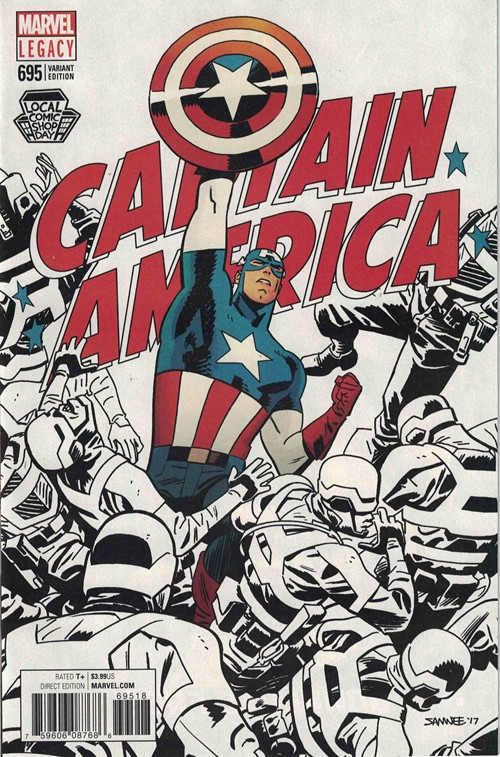(Marvel) Cover for Captain America #695 LCSD 2017 Chris Samnee Exclusive Variant