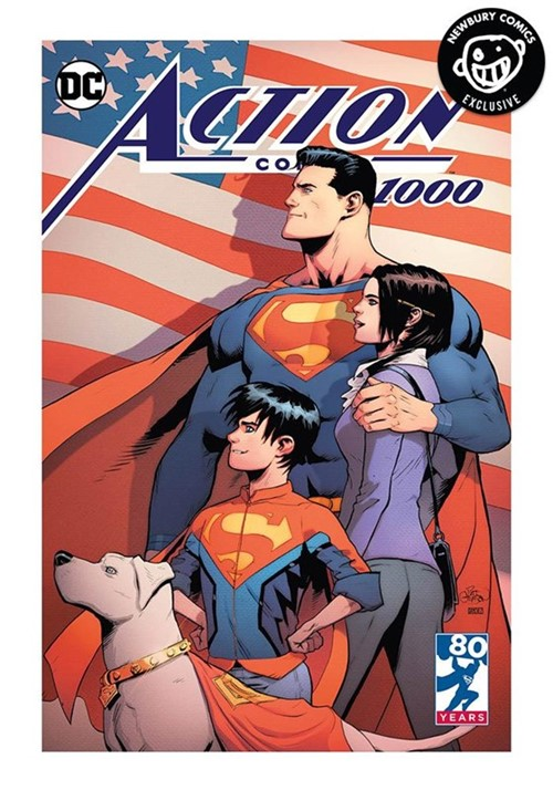 (DC) Cover for Action Comics #1000 Newbury Comics Exclusive Patrick Gleason Color Variant Cover Limited to 2500