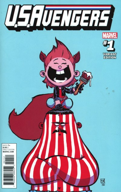 (Marvel) Cover for U.S.Avengers #1 Skottie Young Variant Cover
