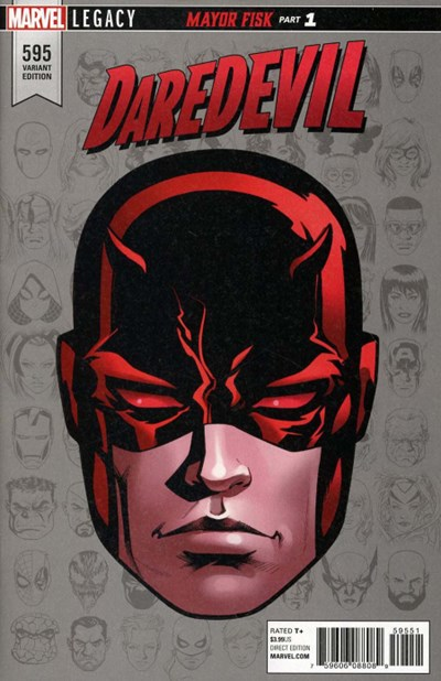 (Marvel) Cover for Daredevil #595 Mike McKone Legacy Headshot Variant Cover. Limited 1 for 10.