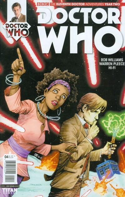 (Titan) Cover for Doctor Who: The Eleventh Doctor Year Two #4 Cover A by Joshua Cassara & Luis Guerrero