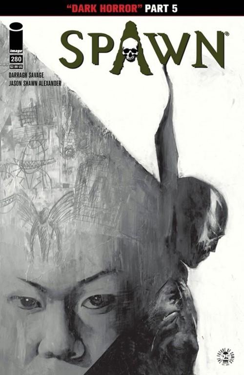 (Image) Cover for Spawn #280 Jason Shawn Alexander & Dinora Walcott Black & White Variant Cover