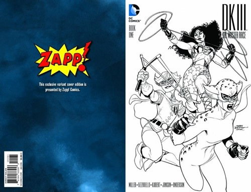 (DC) Cover for Dark Knight Iii: The Master Race #1 Zapp! Comics Exclusive Sketch Variant Cover by Terry Dodson
