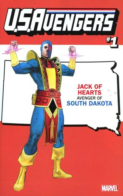 (Marvel) Cover for U.S.Avengers #1 Rod Reis South Dakota State Variant Cover