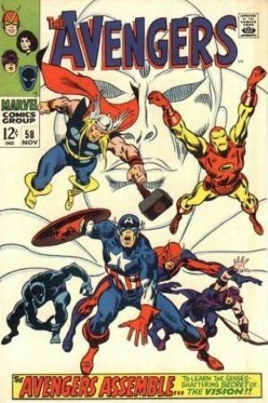 (Marvel) Cover for Avengers, The #58 Origin of The Vision, joins Avengers team