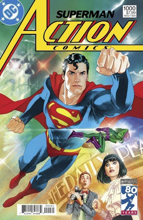 (DC) Cover for Action Comics #1000 Joshua Middleton 1980s Variant Cover