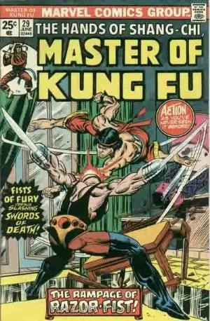 (Marvel) Cover for Master Of Kung Fu #29 1st Appearance of Razor Fist