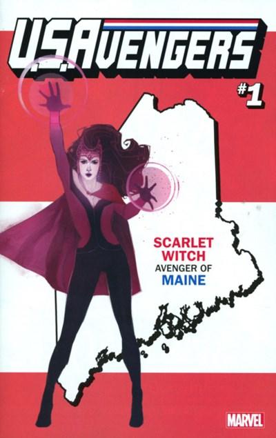 (Marvel) Cover for U.S.Avengers #1 Rod Reis Maine State Variant Cover