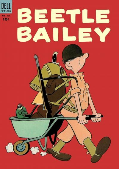 (Dell) Cover for Beetle Bailey (Includes Four-Color)  #1 Four Color 469- 1st Beetle Bailey in Comics - Art by Mort Walker.