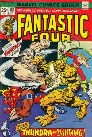 Comic Cover for Fantastic Four (#151)