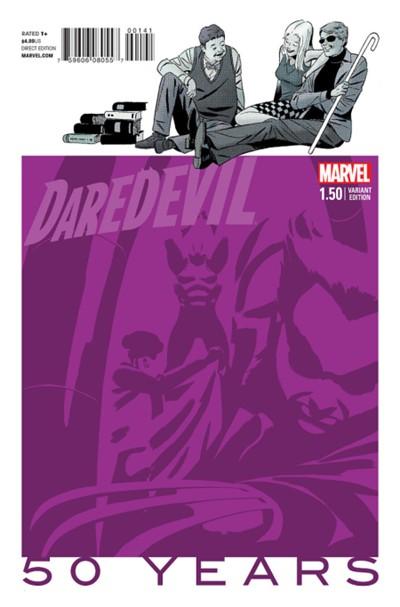 (Marvel) Cover for Daredevil #1.5 Marcos Martin 1970s Purple Variant Cover