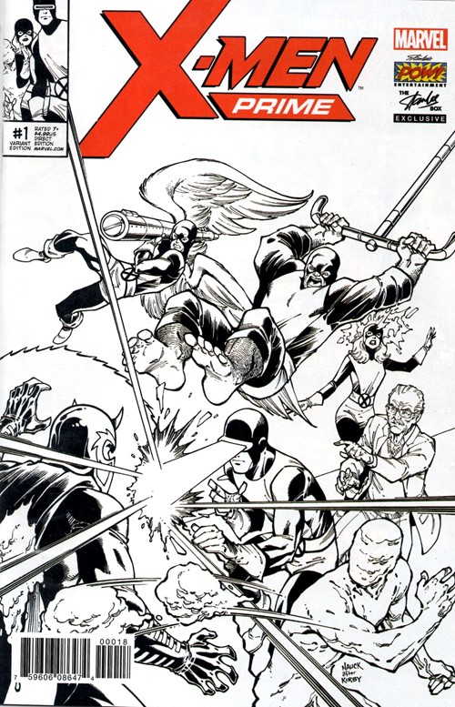 (Marvel) Cover for X-Men Prime #1 Stan Lee Box Black & White Exclusive