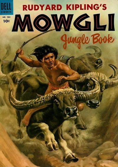 (Dell) Cover for Mowgli Jungle Book (Four-Color) #582
