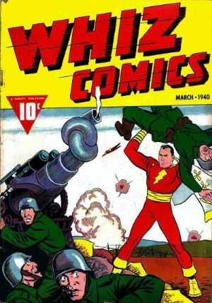 (Fawcett Publications) Cover for Whiz Comics #2