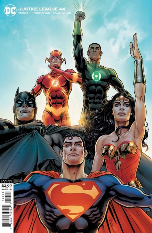 (DC) Cover for Justice League #44 Nicola Scott Variant Cover