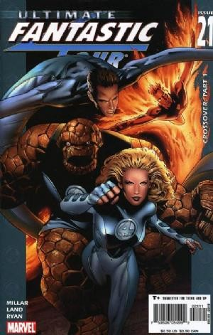 (Ultimate Marvel) Cover for Ultimate Fantastic Four #21 3/4 Page Cameo of Marvel Zombies (Last Page shows Zombie Fantastic Four)