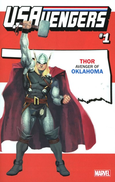 (Marvel) Cover for U.S.Avengers #1 Rod Reis Oklahoma State Variant Cover