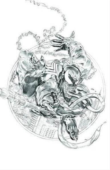 (Marvel) Cover for Venom #1 KRS / Unknown Comics 2018 MegaCon Exclusive Mike Mayhew Amazing Spider-Man #301 Homage Sketch Variant
