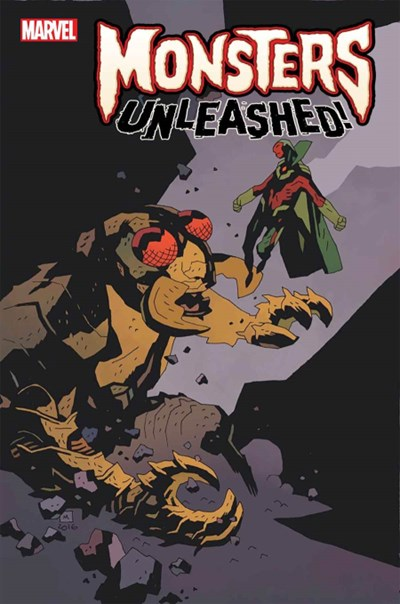 (Marvel) Cover for Monsters Unleashed #1 Mike Mignola Classic Monsters Vs Marvel Hero Variant Cover. Limited 1 for 100.