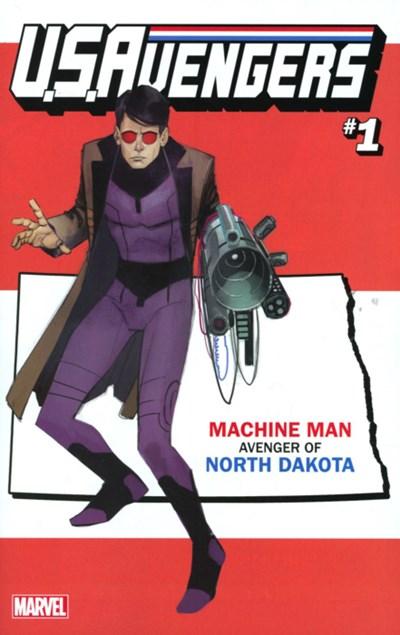 (Marvel) Cover for U.S.Avengers #1 Rod Reis North Dakota State Variant Cover