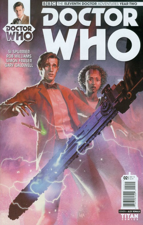 (Titan) Cover for Doctor Who: The Eleventh Doctor Year Two #2 Cover A by Alex Ronald