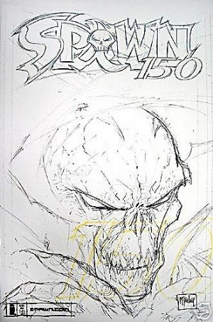 (Image) Cover for Spawn #150 1st Appearance of the Man of Miracles - Todd McFarlane Sketch Cover.
