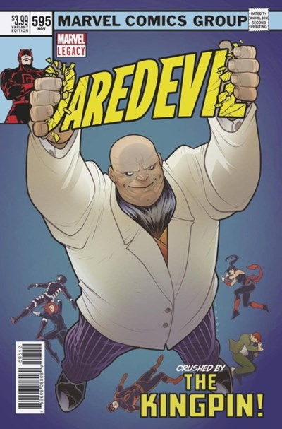(Marvel) Cover for Daredevil #595 Elizabeth Torque Second Printing X-Men #101 Homage Variant Cover