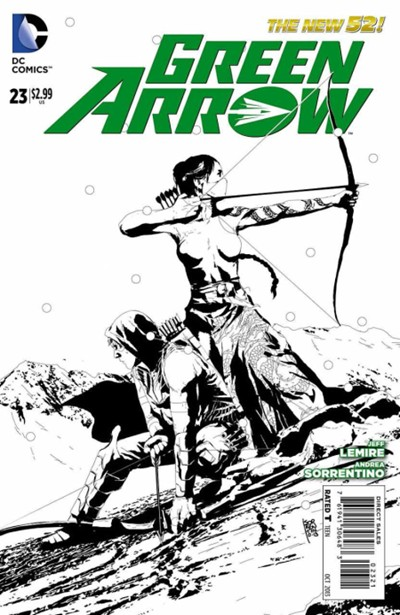 (DC) Cover for Green Arrow #23 Andrea Sorrentino Black & White Variant Cover. Limited 1 for 25.