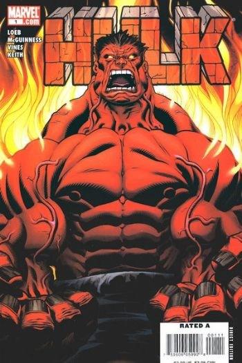 (Marvel) Cover for Hulk #1 1st Appearance of Red Hulk (Thaddeus Thunderbolt Ross),  Standard Edition.