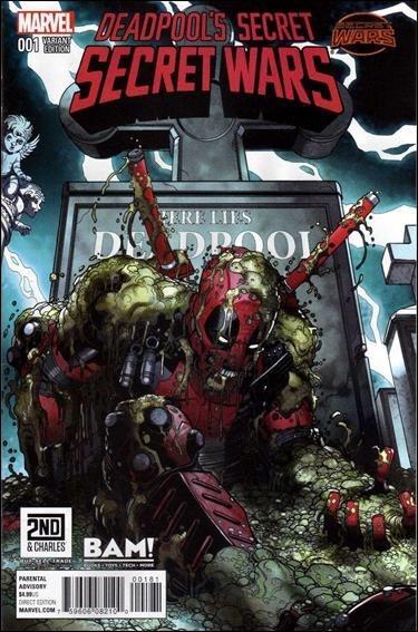 (Marvel) Cover for Deadpool's Secret Secret Wars #1 BAM! / 2nd Charles Exclusive Nick Bradshaw Variant Cover