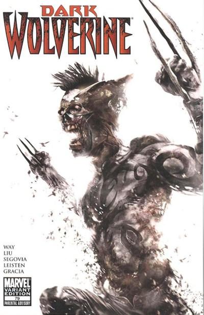 (Marvel) Cover for Dark Wolverine #79 Francesco Mattina Zombie Variant Cover