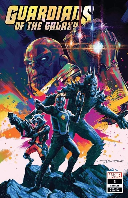 (Marvel) Cover for Guardians Of The Galaxy #1 Amorphous Ink Exclusive Aleksi Briclot Variant Limited to 3000